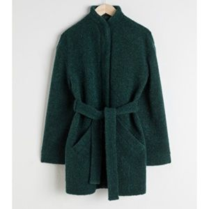 & other stories wool blend belted jacket